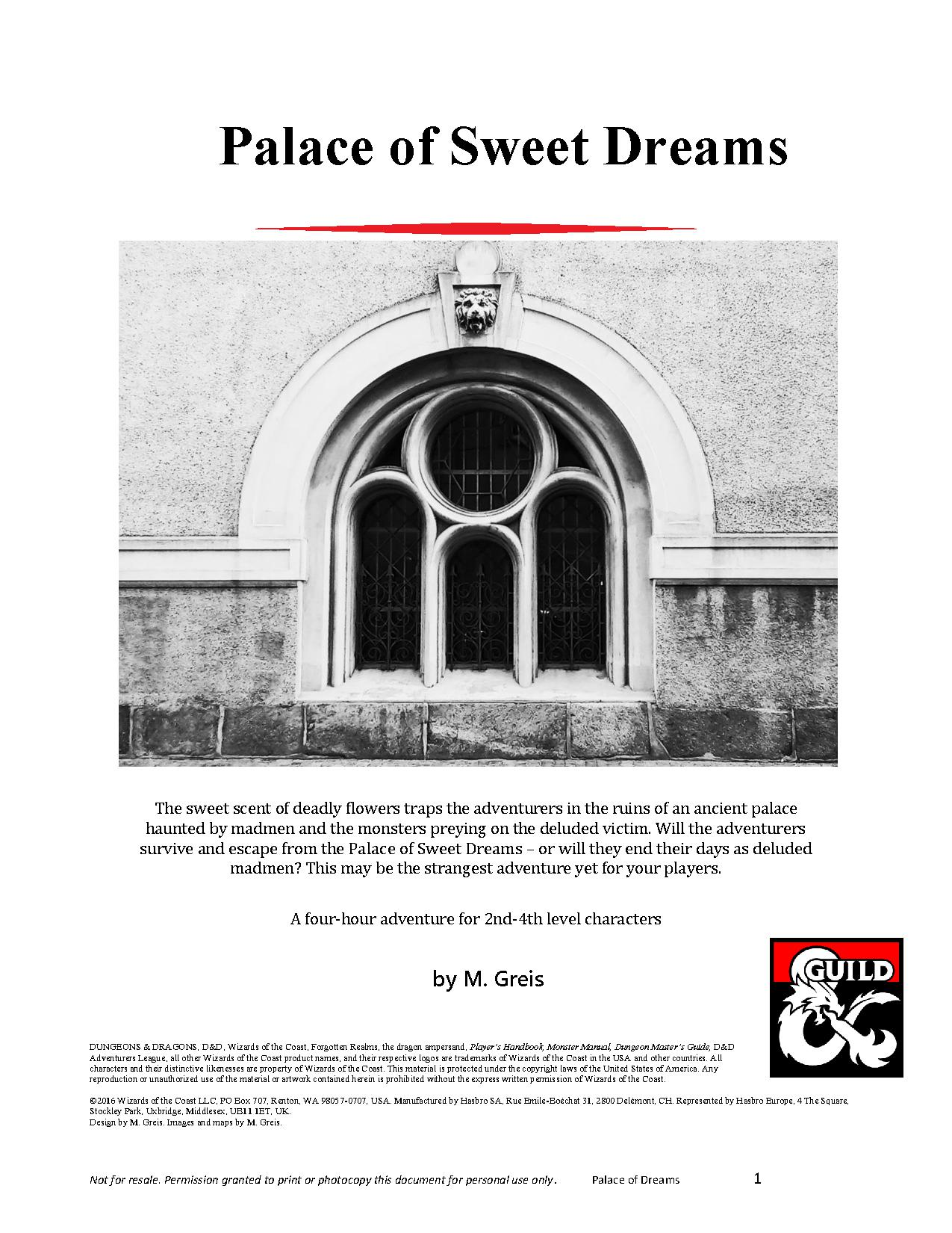 Cover of Palace of Sweet Dreams