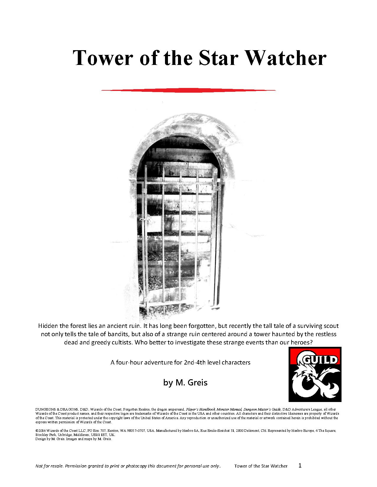 Cover of Tower of the Star Watcher