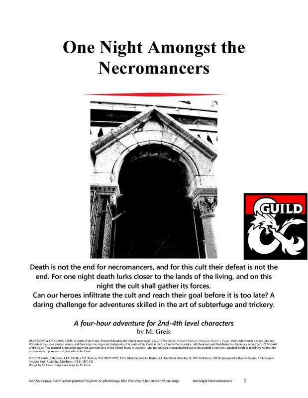 Cover of One Night Amongst the Necromancers