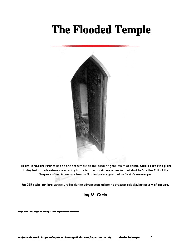 Cover of The Flooded Temple