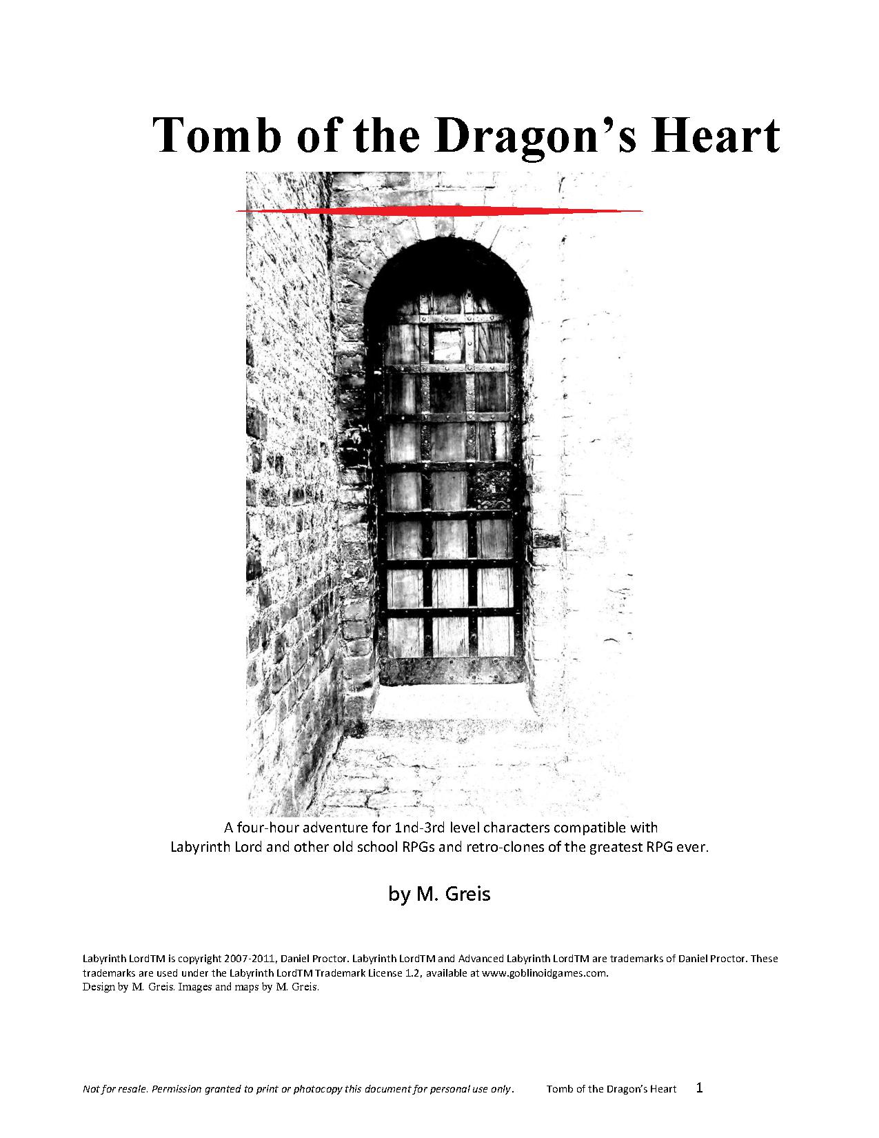 Cover of Tomb of the Dragon's Heart